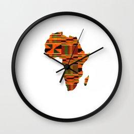 Kente Africa Wall Clock