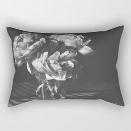peonies [bw] 03 Rectangular Pillow