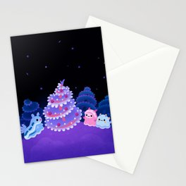 Merry christmas tree worm Stationery Cards