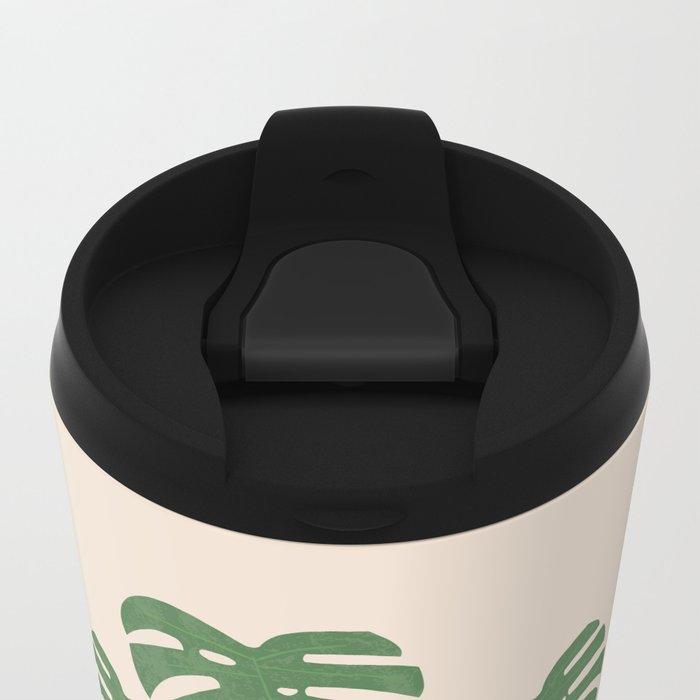 Monstera Metal Travel Mug