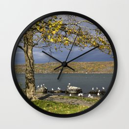 Autumn Day in the Finger Lakes II Wall Clock