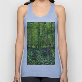 Vincent Van Gogh Trees and Undergrowth 1887 Unisex Tank Top