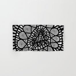 Black and White Doodle 7 Hand & Bath Towel