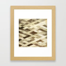 Abstract Pattern in Brown Framed Art Print