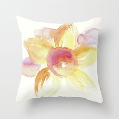 Sunflower Watercolor Throw Pillow