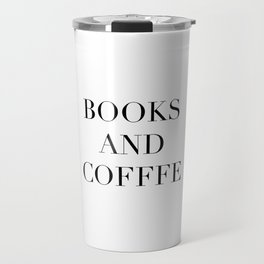 Books & Coffee Travel Mug
