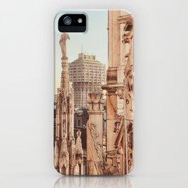 Milan photography, Duomo di Milano, Milan Cathedral, Torre Velasca, architecture photo, skyscraper iPhone Case