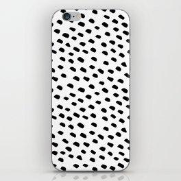 Brush Dot Pattern White iPhone Skin