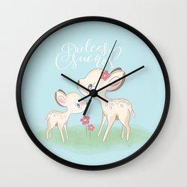 Little Baby Deer - Sweet Dreams Wall Clock