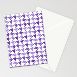 AFE Violet Houndstooth Pattern Stationery Cards
