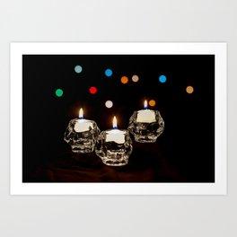 Holiday Candles Art Print
