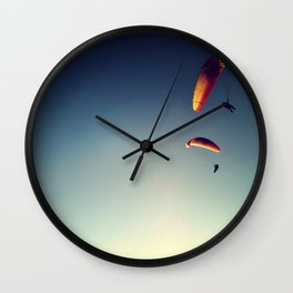 two paragliders from above Wall Clock