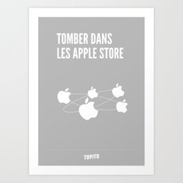 Tomber dans les Apple-Stores Art Print