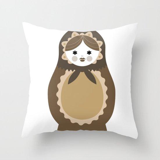 Matrioska-009 Throw Pillow