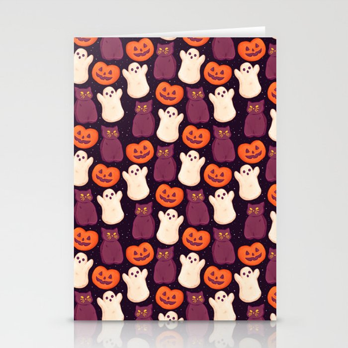 Halloween Marshmallows Stationery Cards