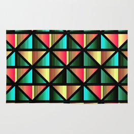 Emerald triangles Rug