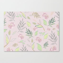 Simple and stylized flowers 4 Canvas Print