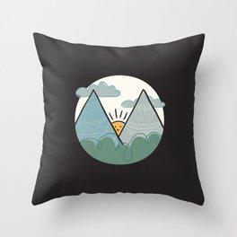 Alphabet Drop Caps Series- M Throw Pillow