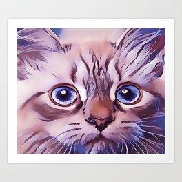 Birman The Blue Eyed Cat Art Print