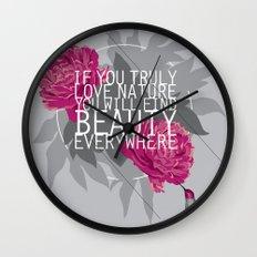 Finding Beauty Wall Clock