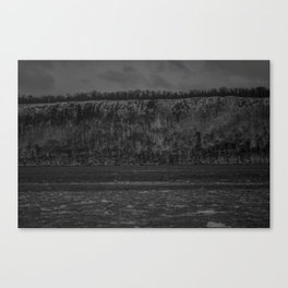 Ice on the Hudson up close Canvas Print
