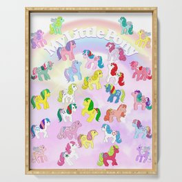 g1 my little pony year 4 So Soft, Twinkle Eye, Flutter Serving Tray