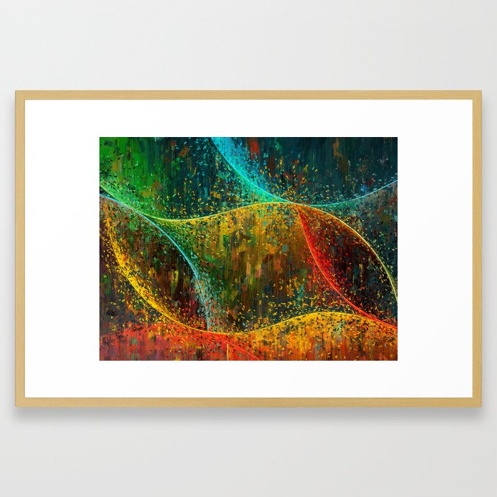 Abstract Curves Framed Art Print