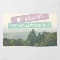 Oh Darling, Let's Be Adventurers Rug