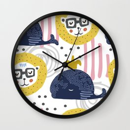 Cute animals Wall Clock