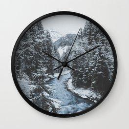 Winter River Wall Clock