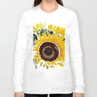 sunflowers Long Sleeve T-shirts featuring Sunflowers by Regan's World