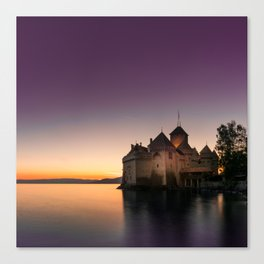 Sunset At Chillon Canvas Print