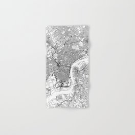 Philadelphia White Map Hand & Bath Towel