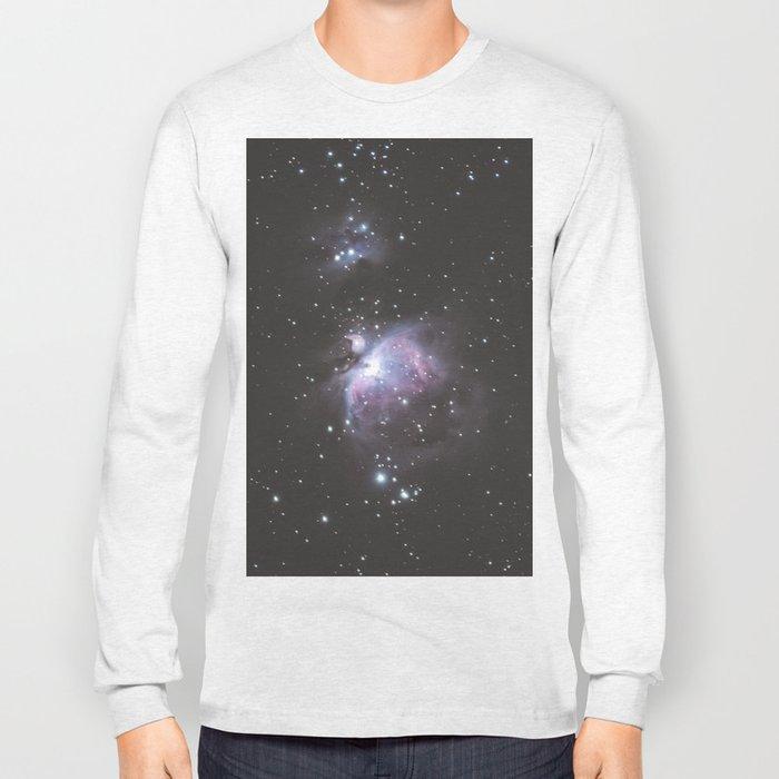 Orion And Running man Nebula's Long Sleeve T-shirt