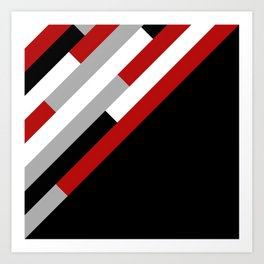 Diagonal stripes pattern Art Print