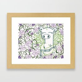 Fairy God Pig Framed Art Print
