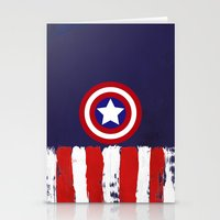 "steve rogers Stationery Cards featuring Captain ""Steve Rogers"" America by Some_Designs"