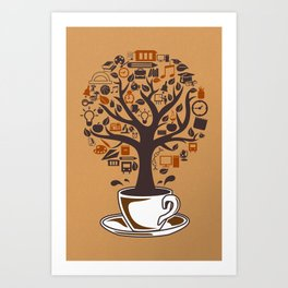 Coffee Tree Art Print