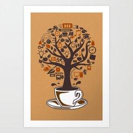 Coffee Tree Art Print