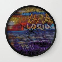 Holiday Florida Crepuscular Twilight Fx  Wall Clock