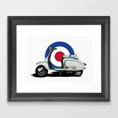 Mod scooter Framed Art Print