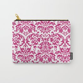 Elegant Damask Pattern (fuchsia) Carry-All Pouch