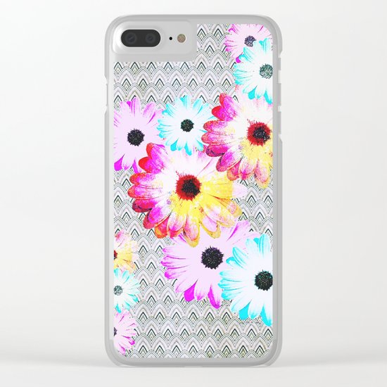 Pop [Happy field] Clear iPhone Case