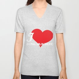 Funny Description Immature Tshirt Design I love being Immature Unisex V-Neck