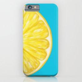 Lemon Half Full iPhone Case