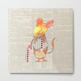 Ole Grandpa Mouse Metal Print