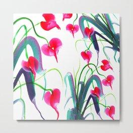Pink flower pattern Metal Print