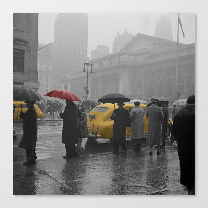 Yellow Cabs New York 3 Canvas Print