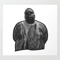 biggie Art Prints featuring biggie by irdion