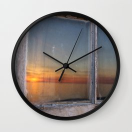 Window Sunset  Wall Clock